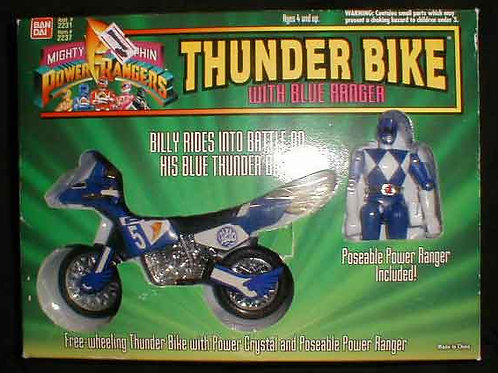Mighty Morphin Power Rangers Thunder Bike with Blue Power Ranger