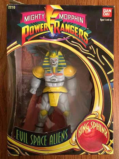 "Mighty Morphin Power Rangers Evil Space Aliens King Sphinx 8"" Action Figure"