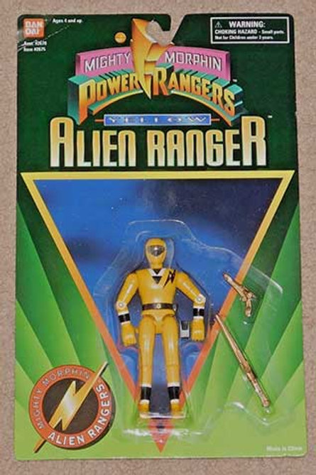 "Mighty Morphin Power Rangers 5"" Yellow Alien Ranger"