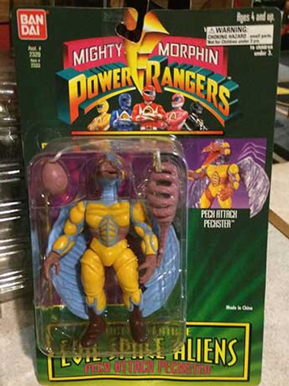 "Mighty Morphin Power Rangers Evil Space Aliens 5.5"" Peck Attack Peckster"