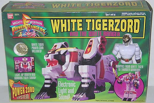 Mighty Morphin Power Rangers Tigerzord & White Ranger 1994 Edition