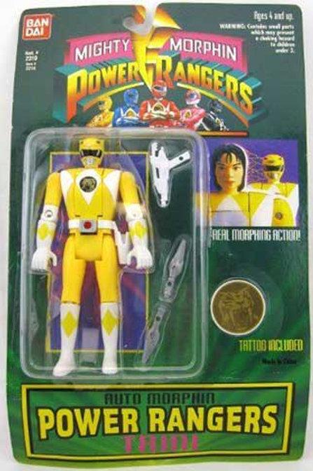 Mighty Morphin Power Rangers Auto Morphin Trini Yellow Ranger Action Figure