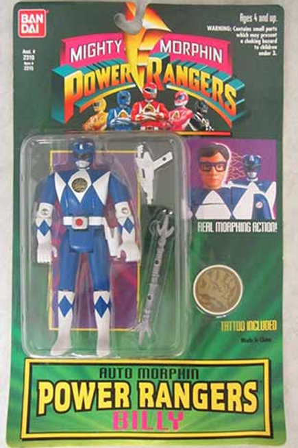 Mighty Morphin Power Rangers Auto Morphin Billy Blue Ranger Action Figure