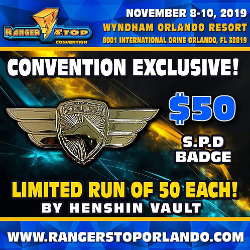 Rangerstop Convention 2019 SPD Badge Limited to 50