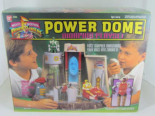 Mighty Morphin Power Rangers Power Dome Morphin Playset w/ Exclusive Alpha 5 act