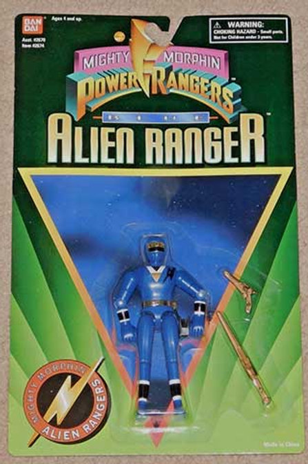 "Mighty Morphin Power Rangers 5"" Blue Alien Ranger"