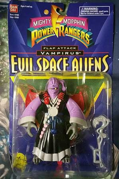 "Mighty Morphin Power Rangers Evil Space Aliens 5.5"" Flap Attack Vampirus"