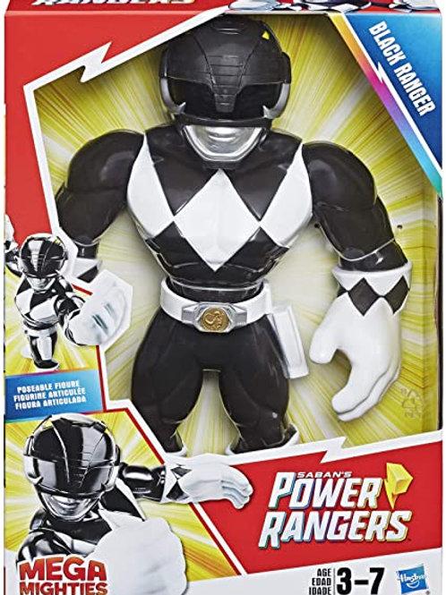 Power Rangers Playskool Preschool Mega Mighties Black Ranger Figure