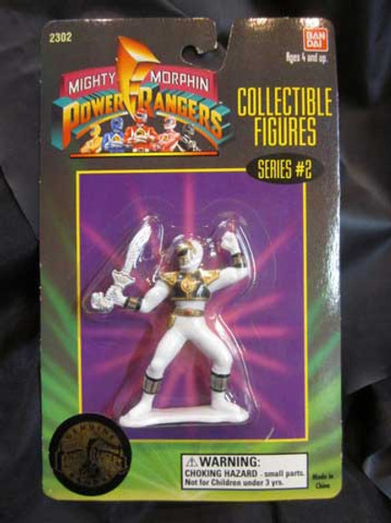 "Mighty Morphin Power Rangers 3"" Collectible Figures Series 2 White Ranger"