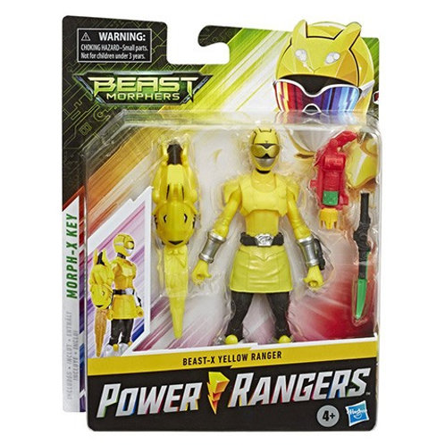 Power Rangers Beast Morphers  Beast-X Yellow Ranger Action Figure
