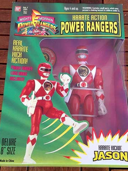 "Mighty Morphin Power Rangers Karate Action Jason Red Ranger 8"" Action Figure"