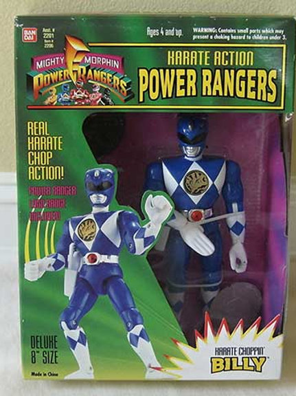 "Mighty Morphin Power Rangers Karate Action Billy Blue Ranger 8"" Action Figure"