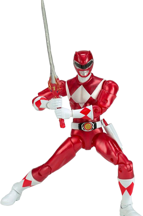 Power Rangers Legacy Collection Metallic Mighty Morphin Red Ranger