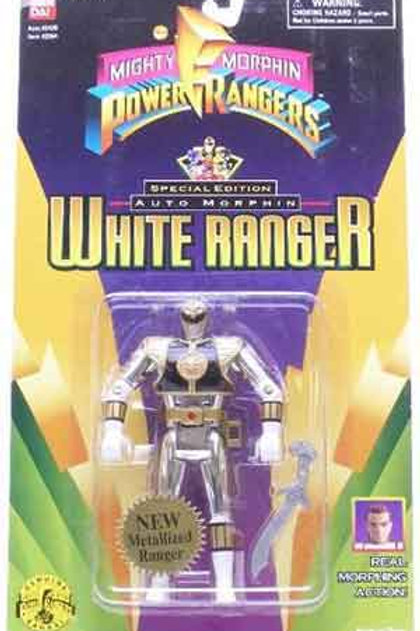 Mighty Morphin Power Rangers Special Edition Metallic Auto Morphin White Ranger