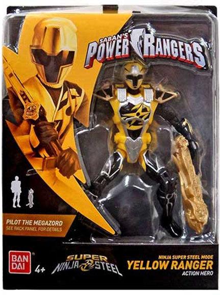 Ninja Super Steel Mode Yellow Ranger Action Hero