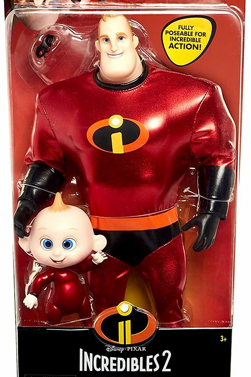 Disney's Incredibles 2 Fashion Doll Mr. Incredible and Jack Jack