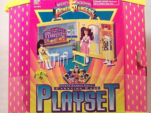 Mighty Morphin Power Rangers Girls Carrying Case Playset