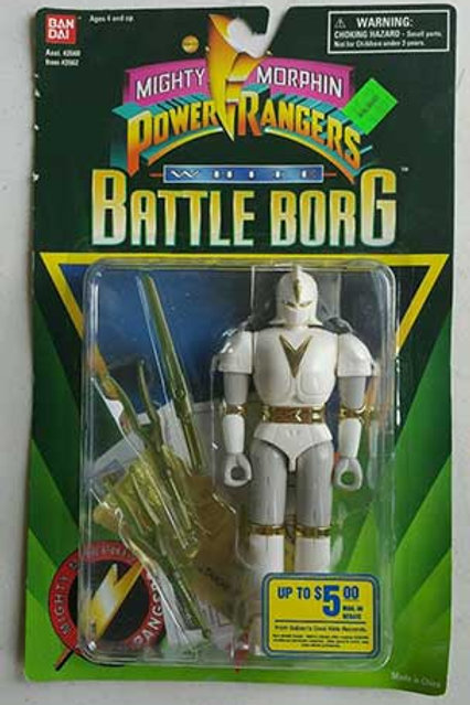 Mighty Morphin Power Rangers Alien Rangers White Battle Borg