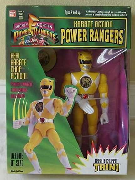 "Mighty Morphin Power Rangers Karate Action Trini Yellow Ranger 8"" Action Figure"