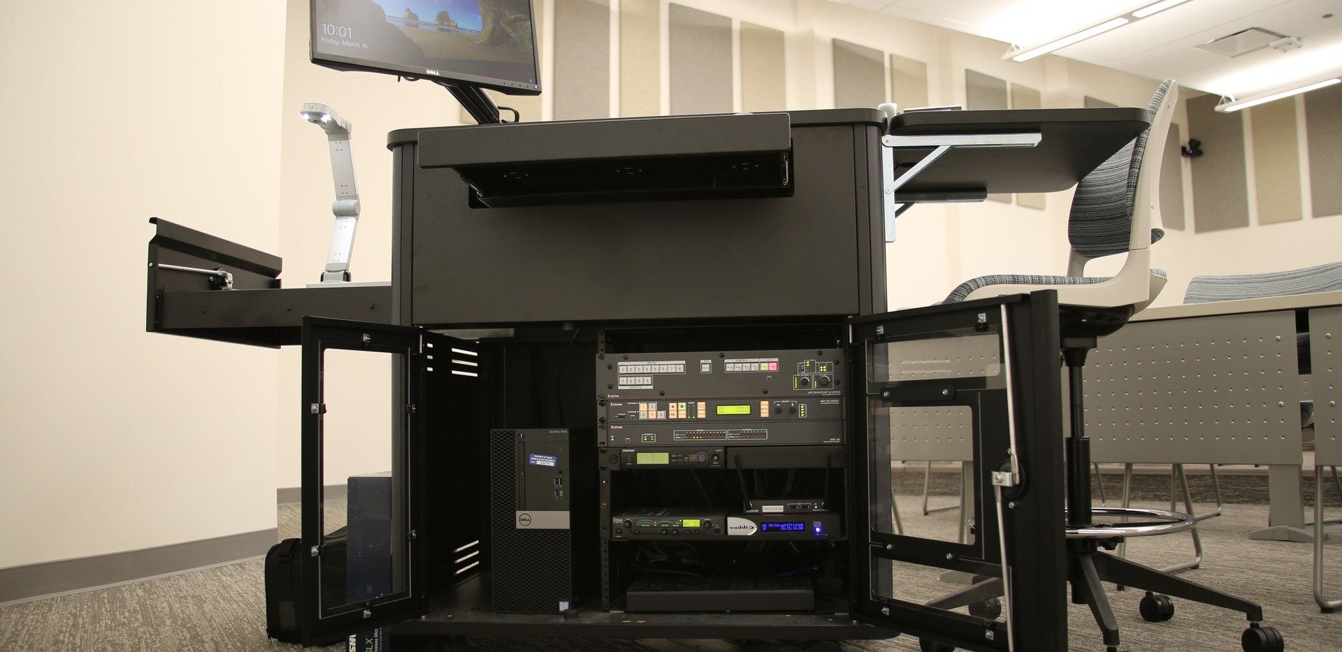 AV equipment in lectern