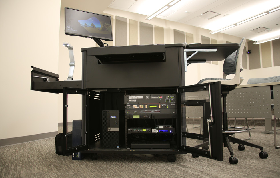 AV equipment in lectern