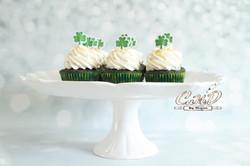 St. Patty's Day Green Velvet Cupcake