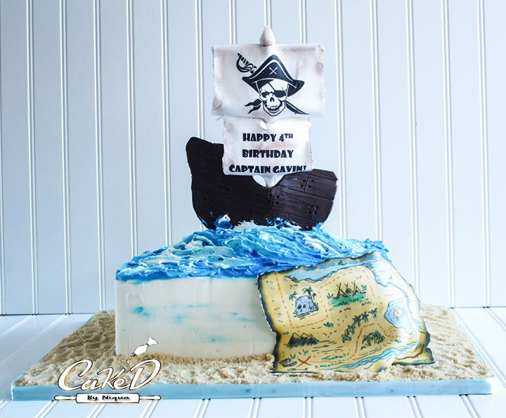 Pirate Sheet Cake