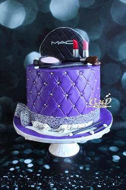 Purple MAC Makeup Cake