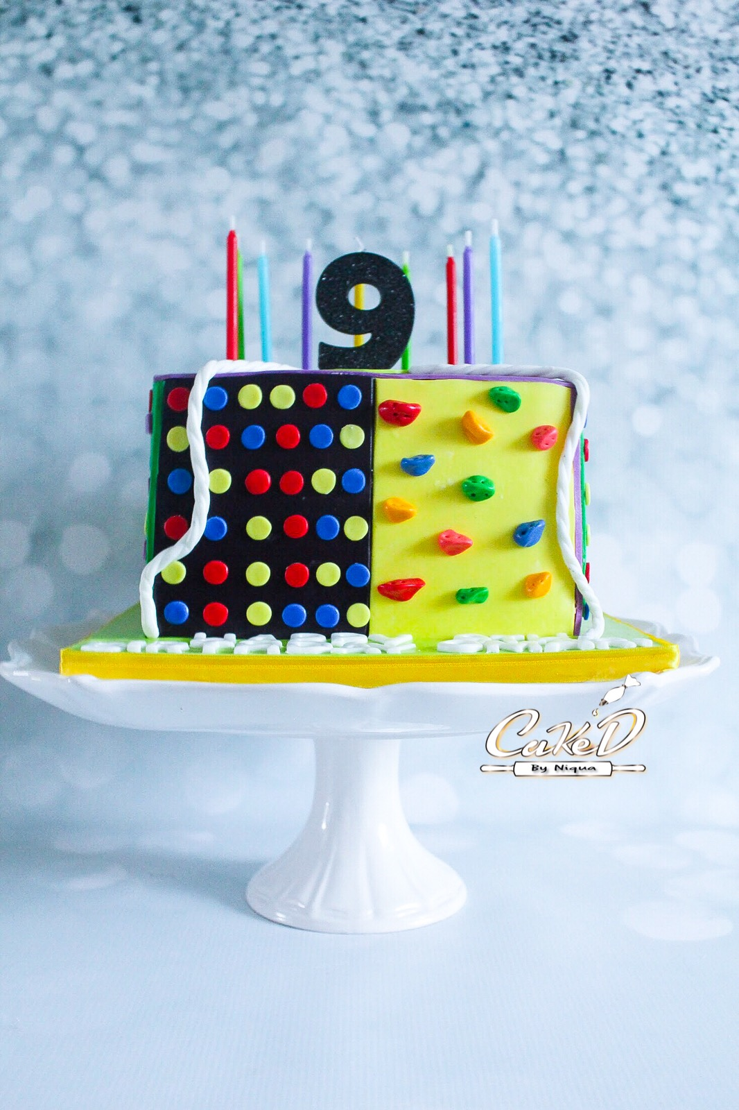 Indoor Rock Climbing Themed Cake