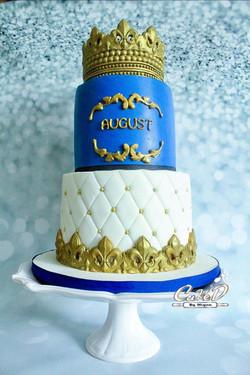 Royal Baby Shower Cake