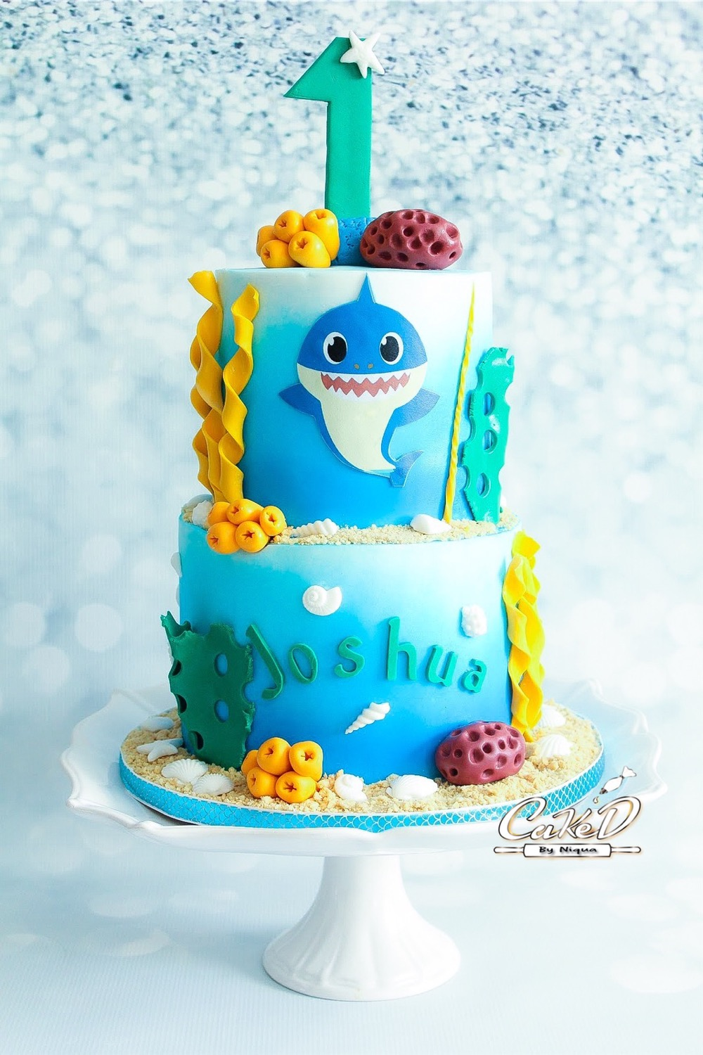 Baby Shark 1st Birthday Cake