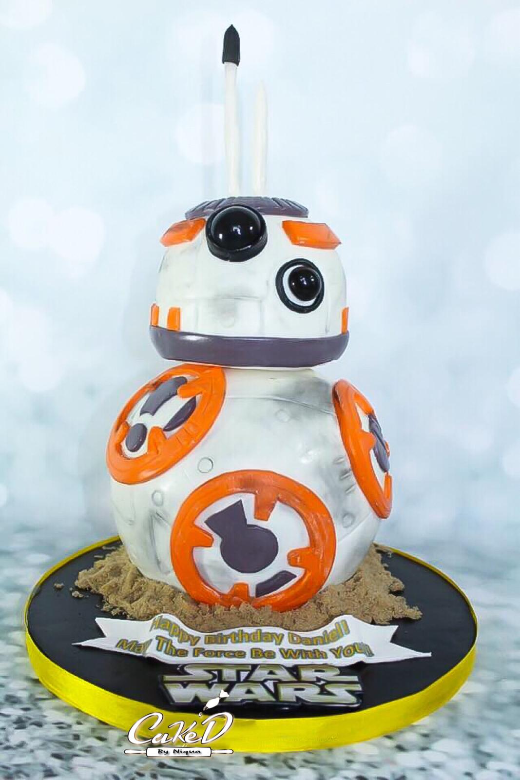 3D Star Wars BB8 Cake