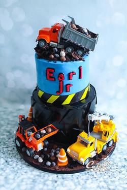 Construction Tire Cake