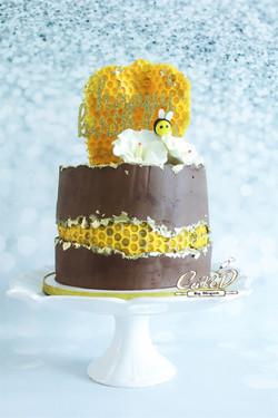 Honeycomb Faultline Cake