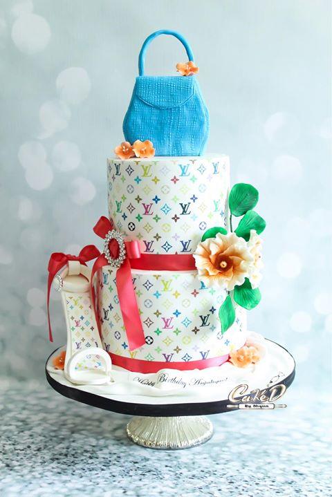Louis Vuitton Fashion Cake
