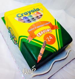 Crayola Crayon Box Cake