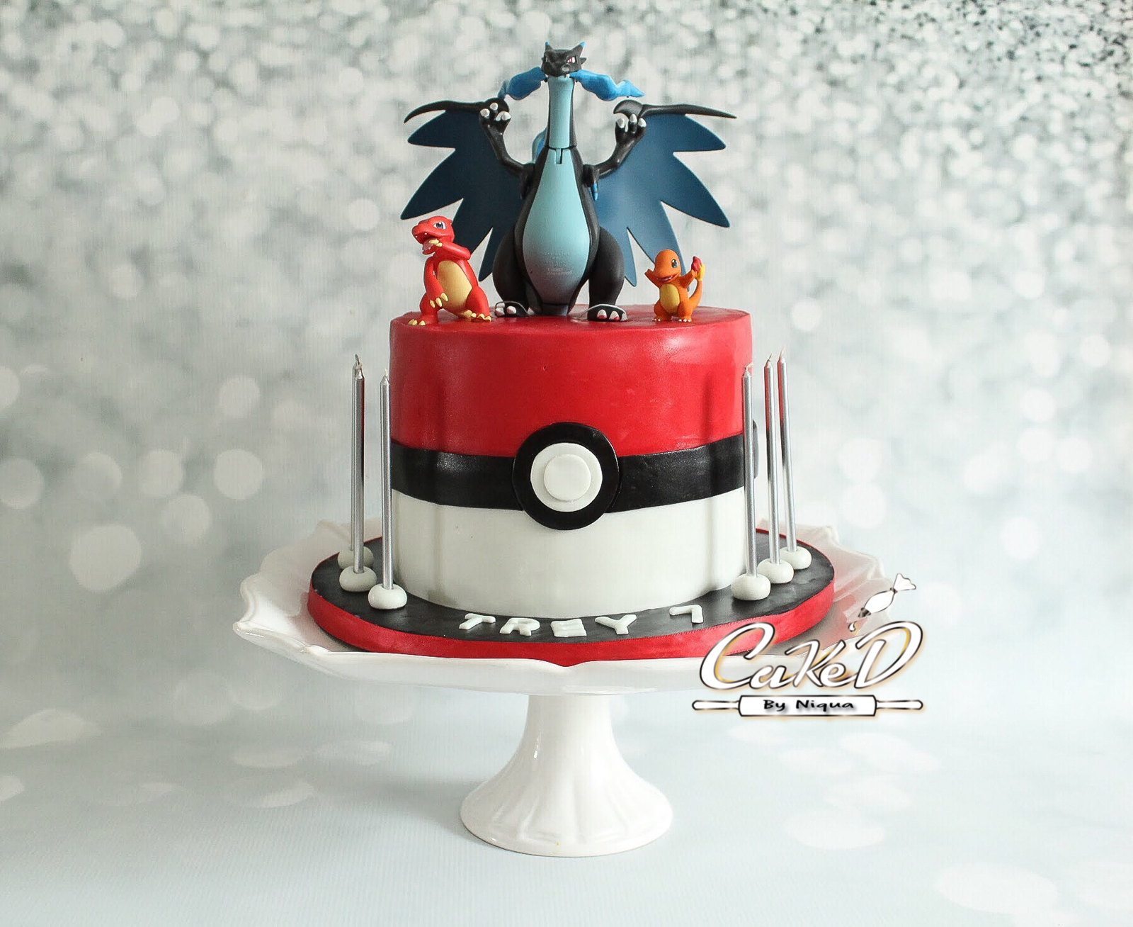 Mega Charizard Pokemon Cake