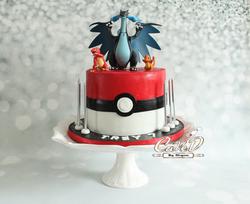 Mega Charizard Pokemon Cake