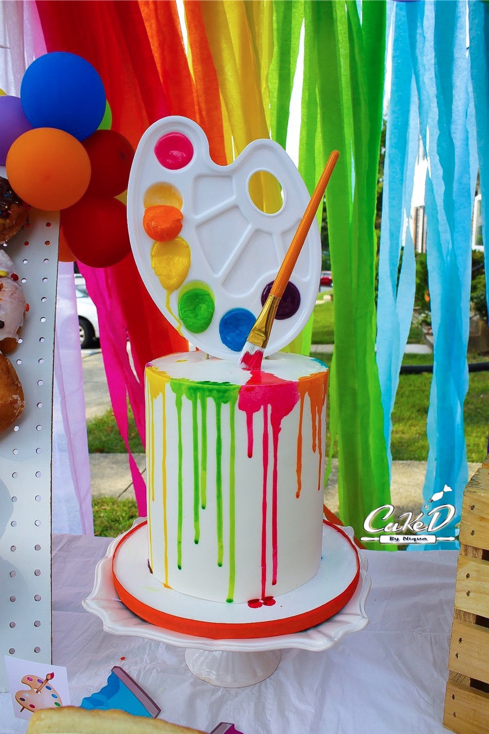 Paint Drip Birthday Cake