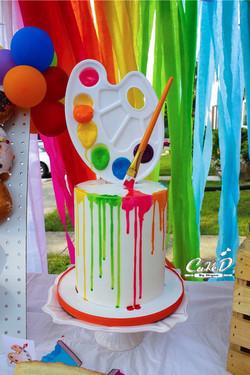 Paint Drip Birthday Cake