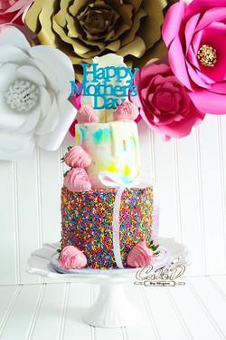 Mother's Day Sprinkles Cake