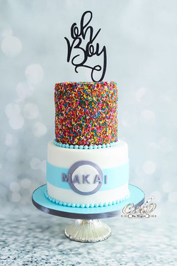 Baby Shower Sprinkles Cake