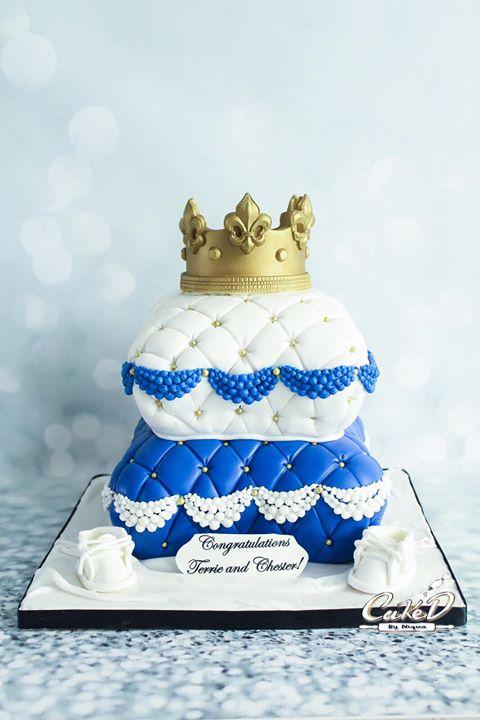 Royal Prince Baby Shower Pillow Cake