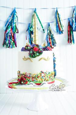 Sprinkle Rainbow Unicorn Cake