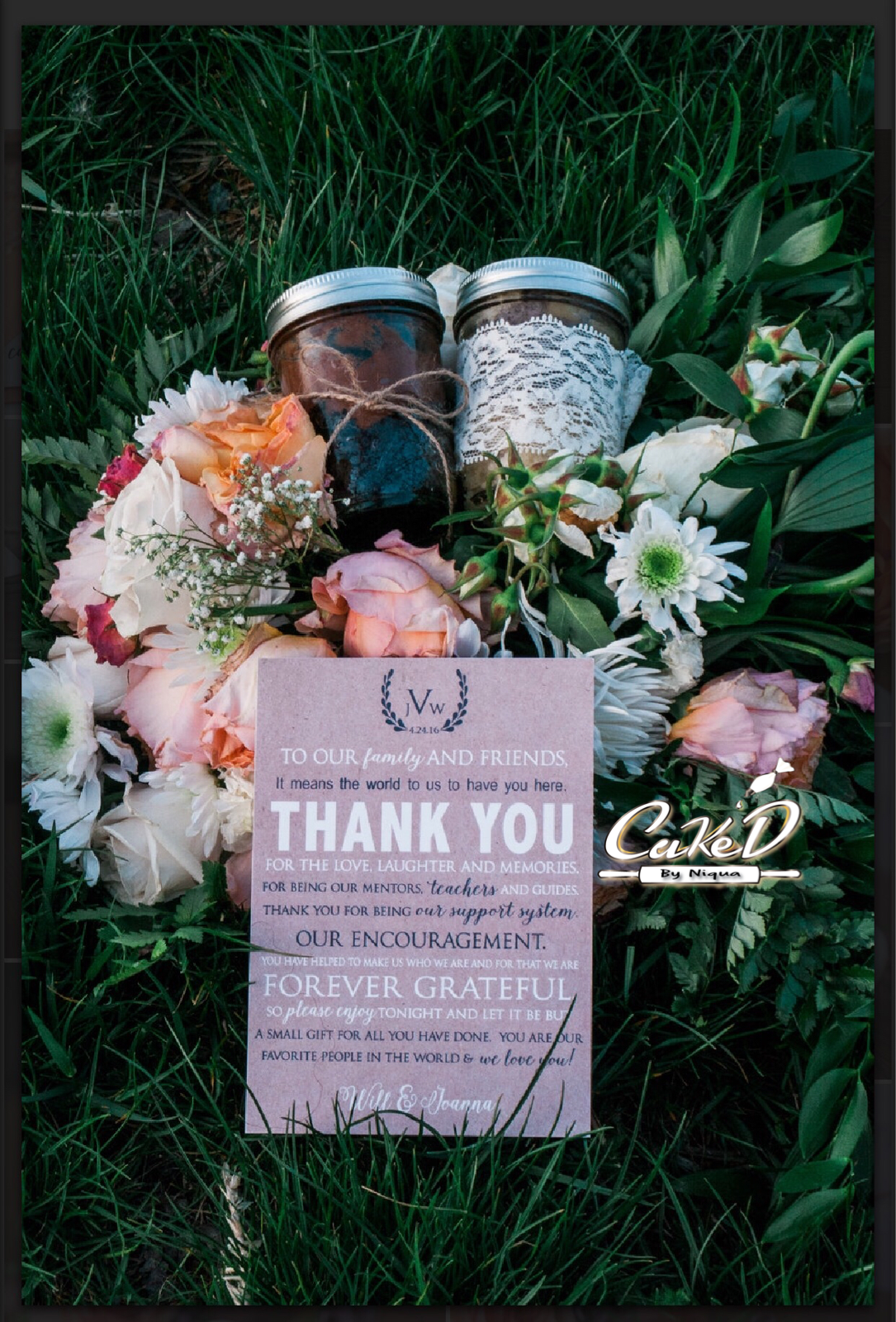 Cake In A Jar Wedding Favors