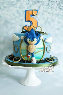 Sonic The Hedgehog Birthday Cake