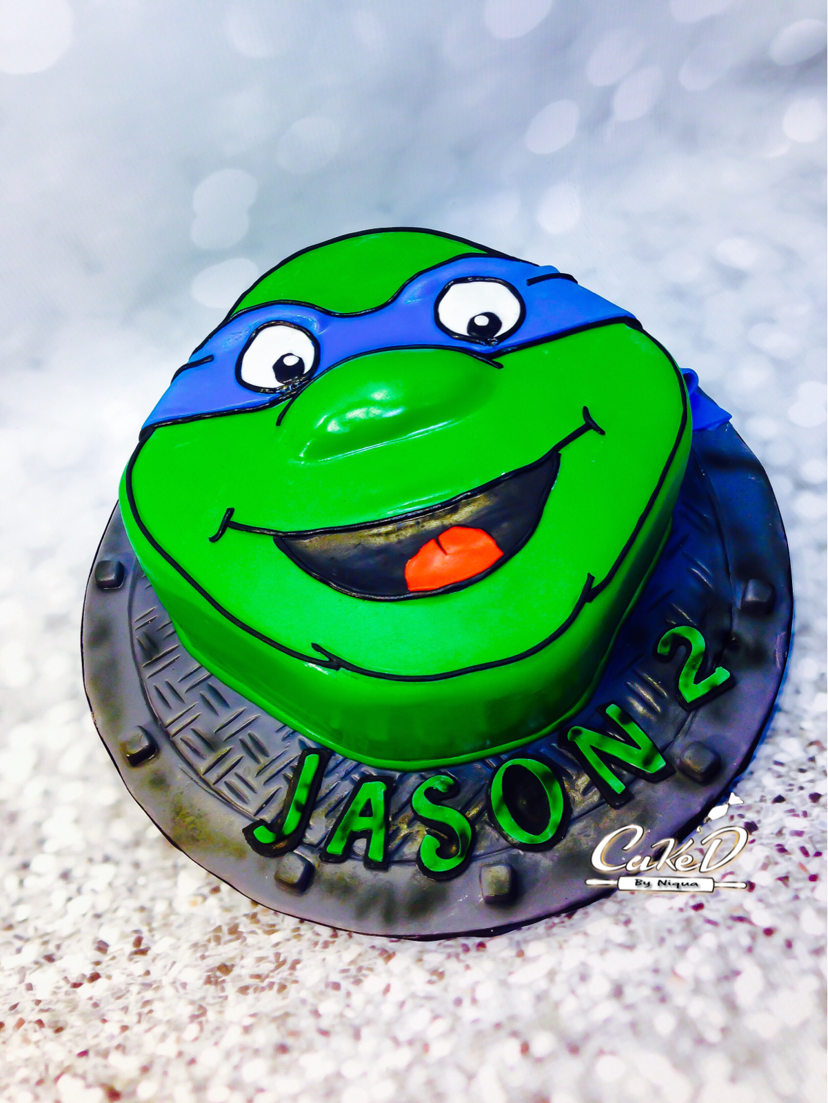 Leonardo Ninja Turtle Cake