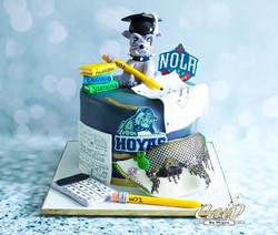 Georgetown Hoyas Graduation Cake