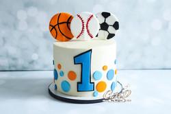 Sport Themed 1st Birthday Smash Cake
