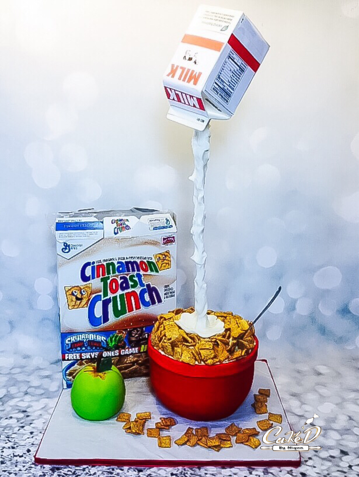 Gravity Defying Cereal Cake